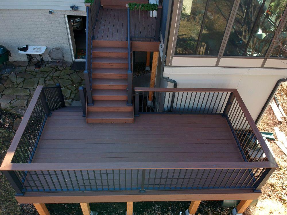 deck on the back of a Minnesota home